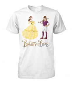 Beauty and the beast belle and baseball girl unisex cotton tee