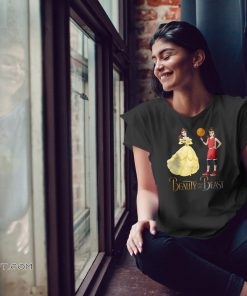 Beauty and the beast belle and basketball girl shirt