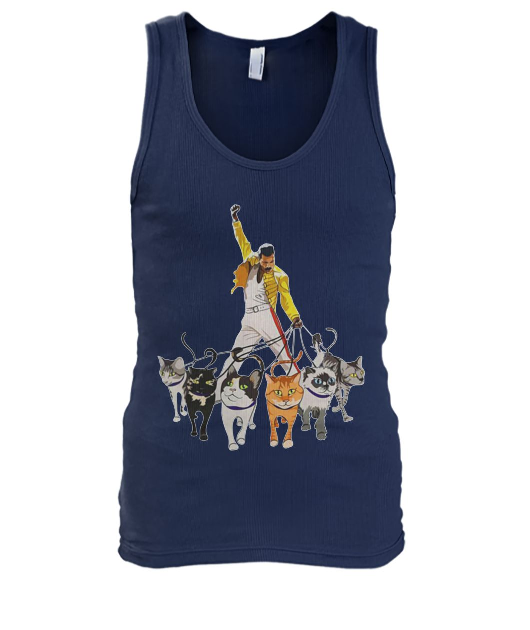Freddie mercury and cats men's tank top