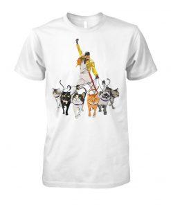 Freddie mercury and cats unisex cotton tee