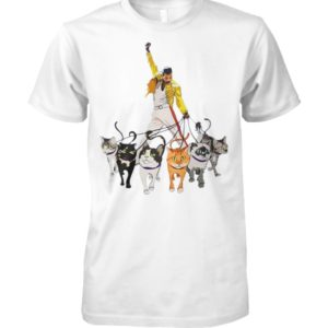 Freddie mercury and cats unisex cotton tee