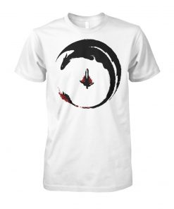 How to train your dragon 3 circling dragon unisex cotton tee
