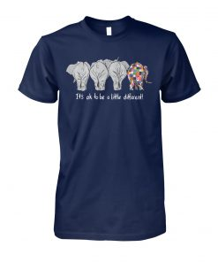 It's ok to be a little different autism awareness unisex cotton tee