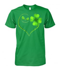 Jack skellington st patrick's day unisex cotton tee