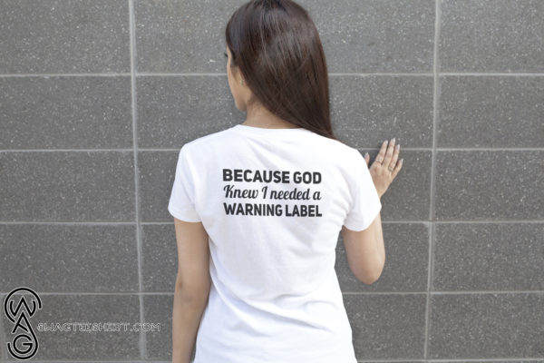Redhead I have red hair because god knew I needed a warning label lady shirt
