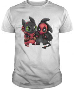 Toothless and deadpool guy shirt