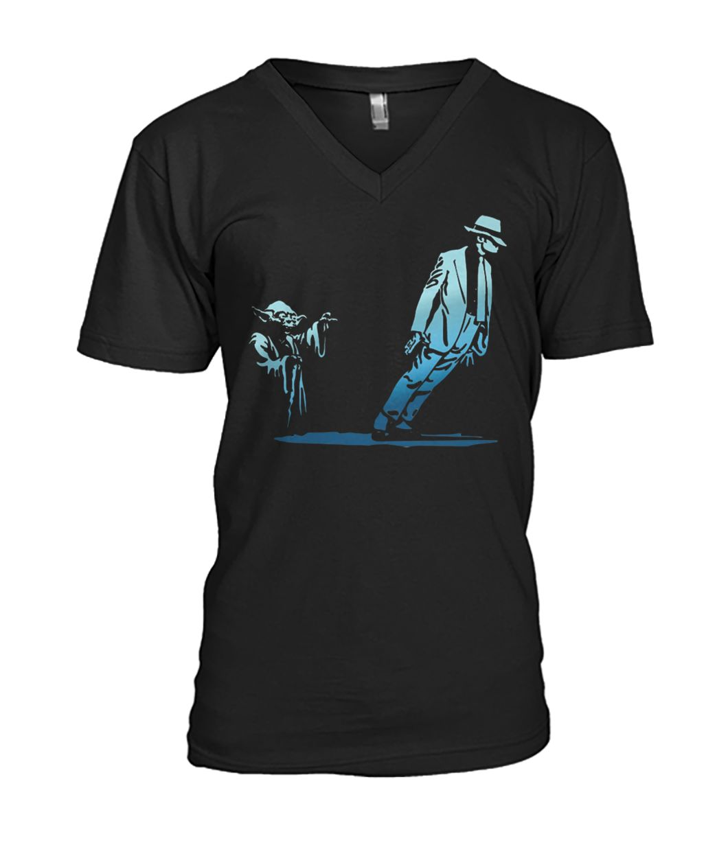 Yoda dance with michael jackson mens v-neck