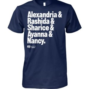 Alexandria and rashida and sharice and ayanna and nancy unisex cotton tee