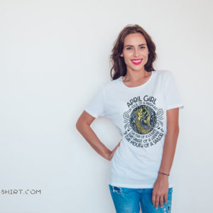 April girl the soul of a mermaid the fire of a lioness shirt