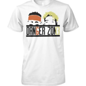 Baker mayfield and odell beckham jr danger zone unisex cotton tee