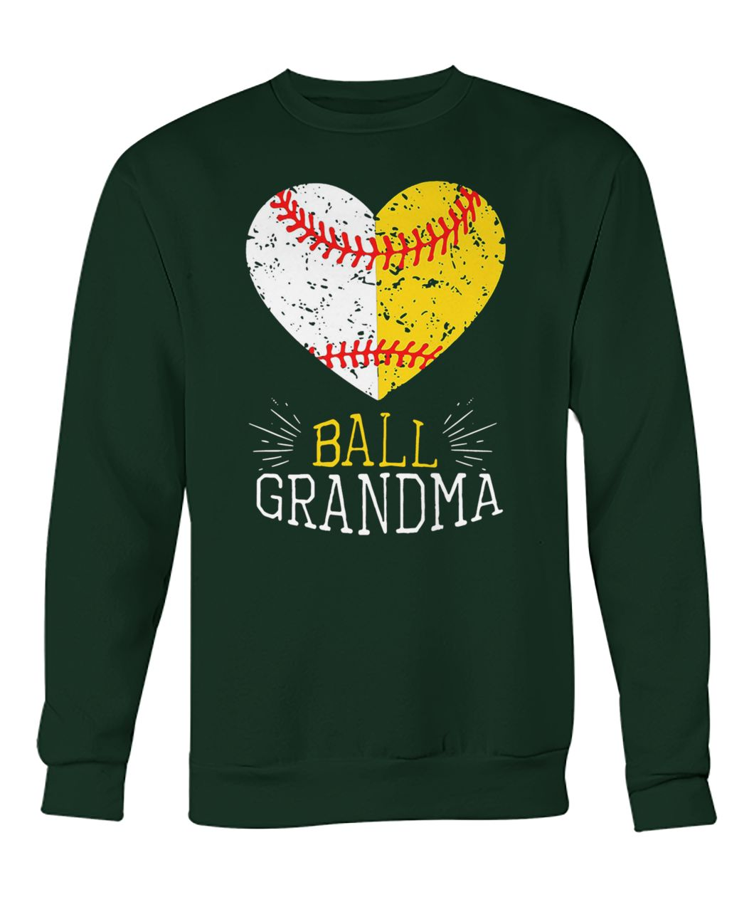 Ball grandma softball or baseball crew neck sweatshirt