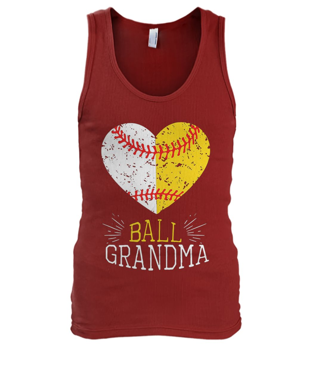 Ball grandma softball or baseball men's tank top