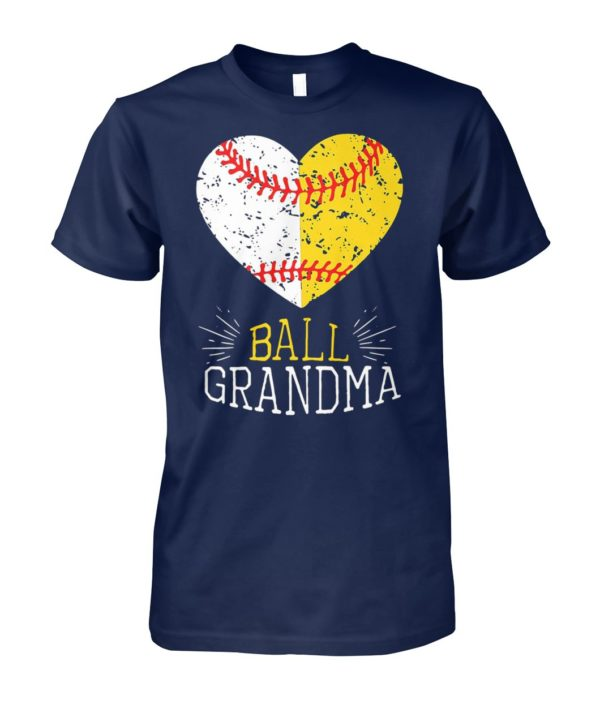 Ball grandma softball or baseball unisex cotton tee