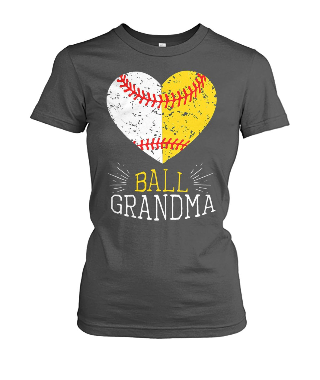 Ball grandma softball or baseball women's crew tee