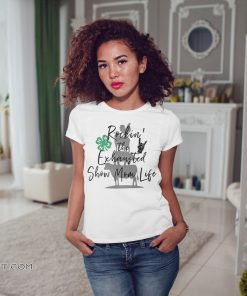 Barbecue with cow pig and chicken rockin' the exhausted show mom life shirt