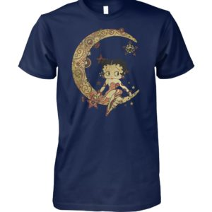 Betty boop on the crescent moon unisex cotton tee