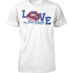 Blue devils drum and bugle corps love my team unisex cotton tee