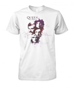 Bohemian rhapsody freddie mercury queen forever signature unisex cotton tee