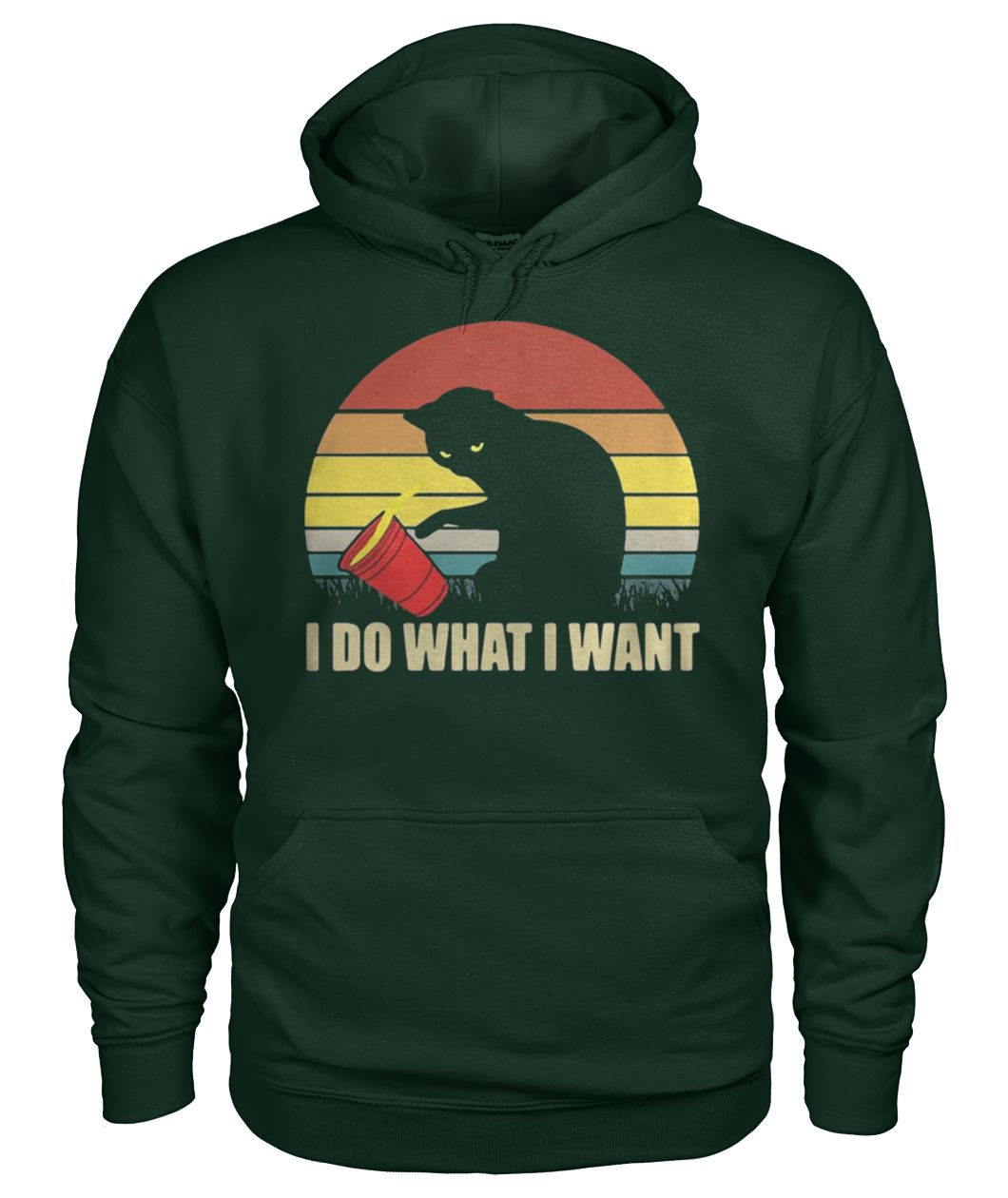 Captain marvel goose cat I do what I want vintage gildan hoodie