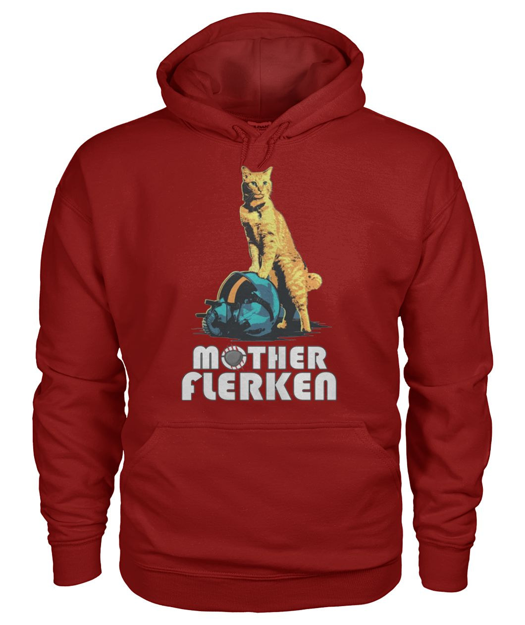 Captain marvel goose the cat mother flerken gildan hoodie