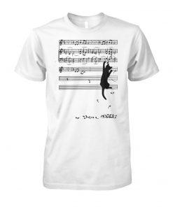 Cat mischief music staff unisex cotton tee