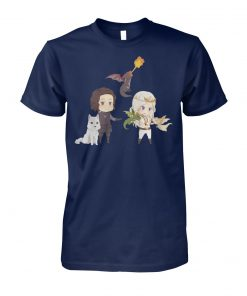 Chibi daenerys targaryen and john snow game of thrones unisex cotton tee