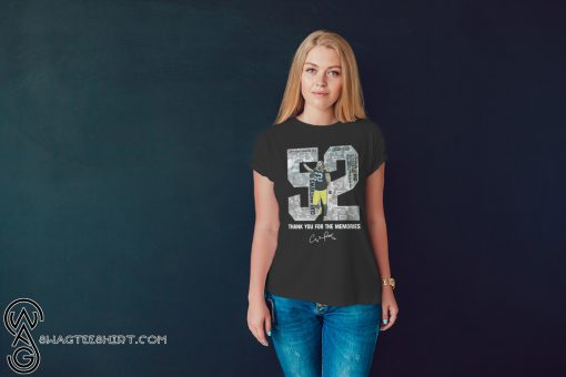 Clay matthews 52 thank you for the memories shirt
