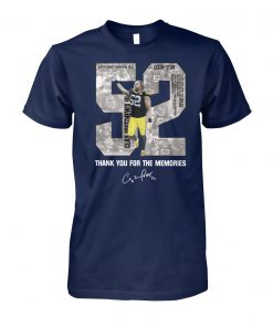 Clay matthews 52 thank you for the memories unisex cotton tee