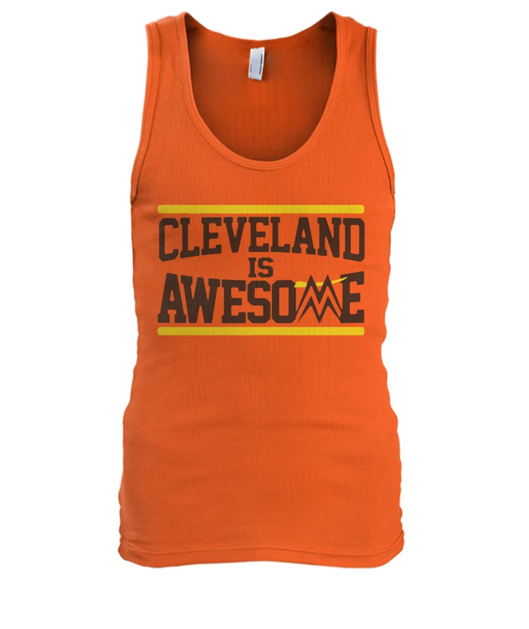 Cleveland is awesome miz men's tank top