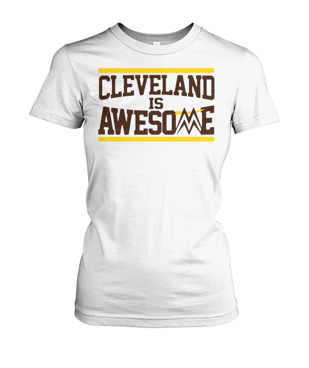Cleveland is awesome miz women's crew tee
