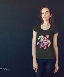 Colour turtle shirt