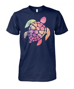 Colour turtle unisex cotton tee