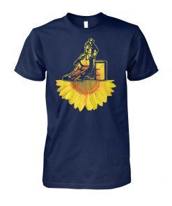 Cowboy sunflower unisex cotton tee