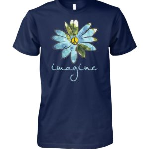 Daisy earth hippie imagine unisex cotton tee
