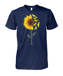 Dinosaurs sunflower you are my sunshine unisex cotton tee