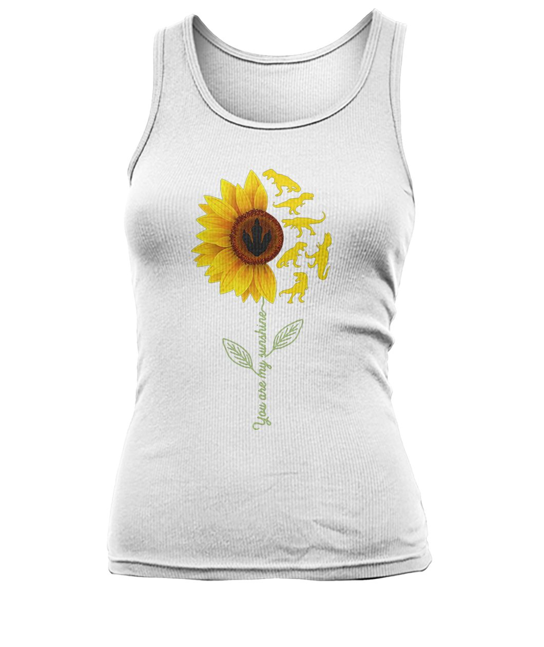Dinosaurs sunflower you are my sunshine women's tank top