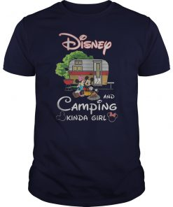 Disney and camping kinda girl mickey and minnie guy shirt