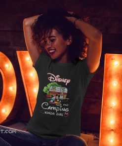 Disney and camping kinda girl mickey and minnie shirt