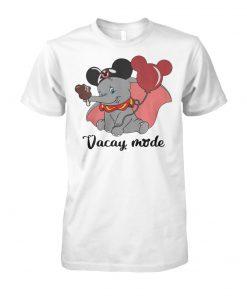 Disney baby elephant vacay mode balloon mickey mouse unisex cotton tee