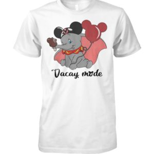 Disney baby elephant vacay mode balloon mickey mouse unisex cotton tee