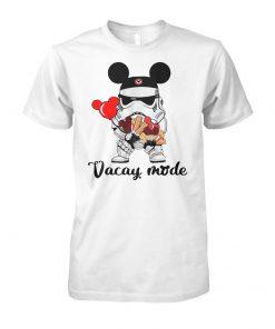 Disney star wars stormtrooper mickey vacay mode unisex cotton tee