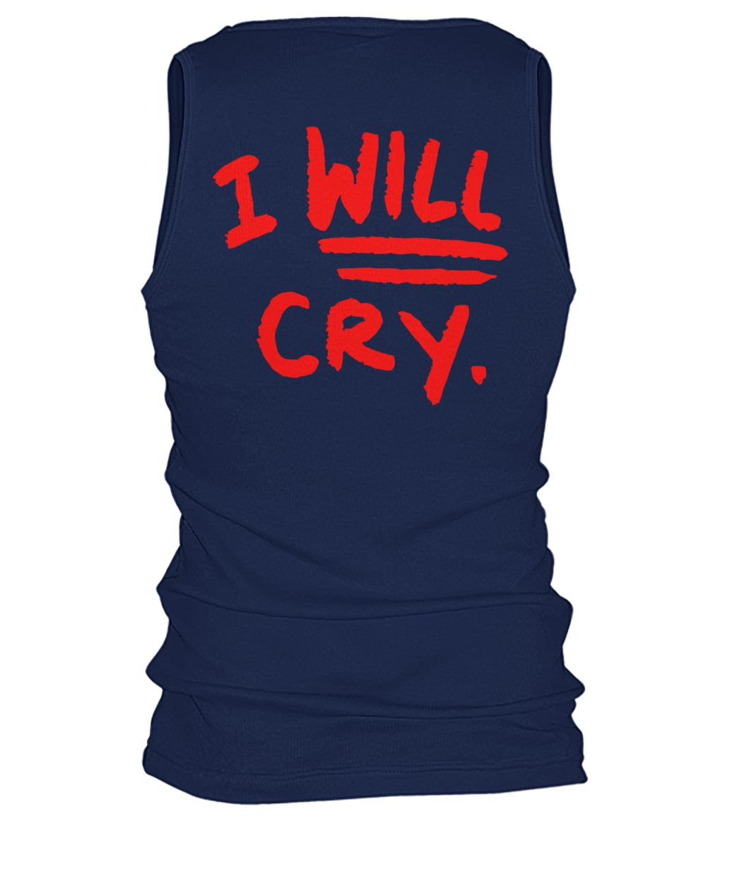 Don't fuck with me I will cry men's tank top