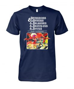 Dungeons and diners dragons drive-ins dives slightly unisex cotton tee