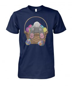 Easter bunny with basket eggs unisex cotton tee