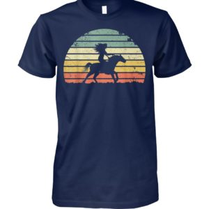 Girl horse riding vintage unisex cotton tee
