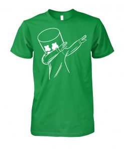 Happy marshmallows dabbing st patrick's day unisex cotton tee