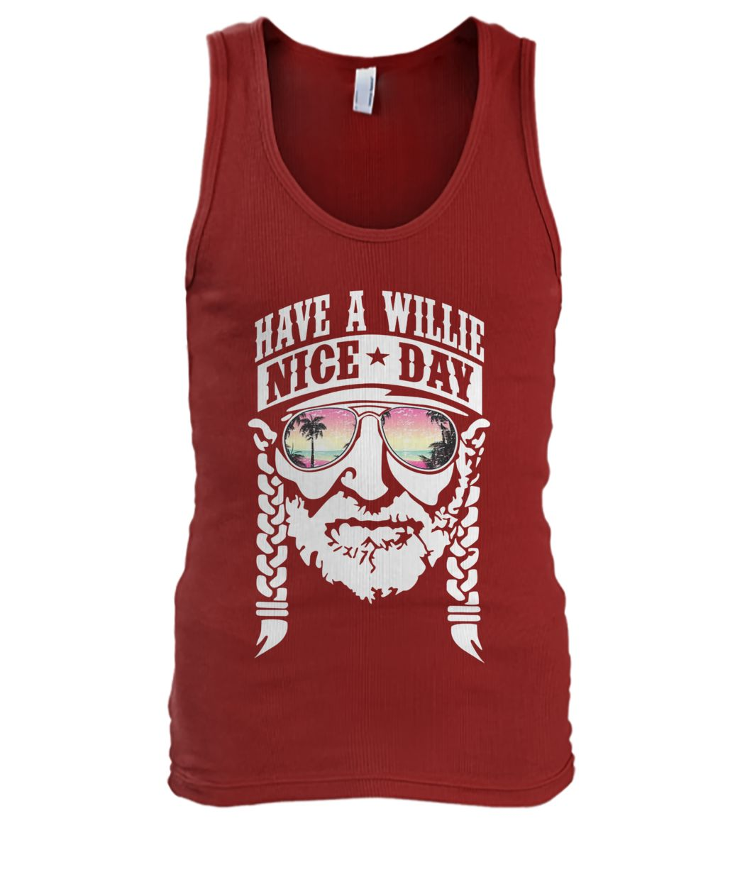 Have a willie nice day willie nelson men's tank top