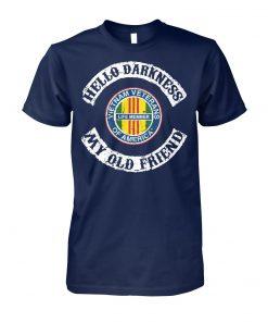 Hello darkness my old friend vietnam veterans of america life member unisex cotton tee