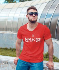 Houston rockets x travis scott run as one shirt