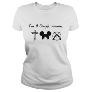 I'm a simple woman I like cross mickey disney and hunting lady shirt